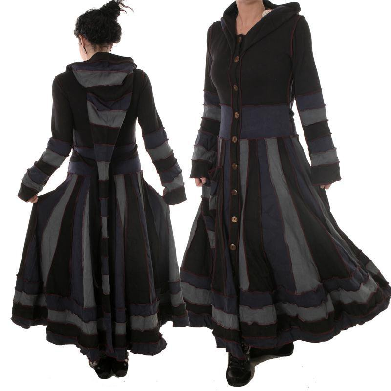 larp mantel zipfelkapuze xxl kapuze hoodie hoody mantelkleid vishes. Black Bedroom Furniture Sets. Home Design Ideas