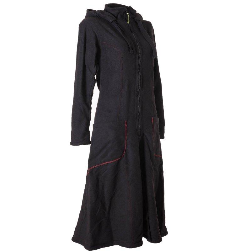 vishes warmer wintermantel fleece mantel larp schwarz 46 vishes a. Black Bedroom Furniture Sets. Home Design Ideas