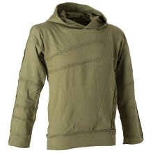 Vishes Sweater Hoodie Hoody Patchwork Pullover olive 2XL