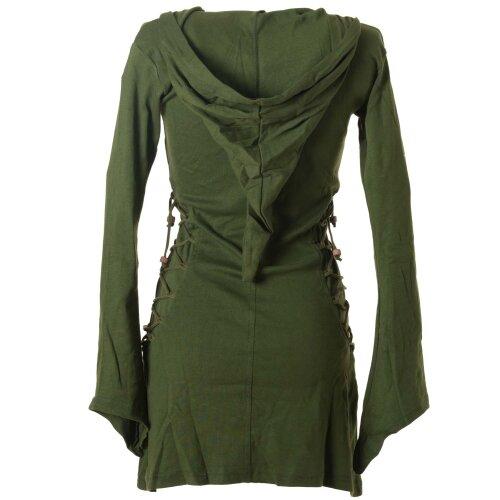 Vishes Elfenkleid mit Zipfelkapuze und Bändern zum Schnüren olive 40