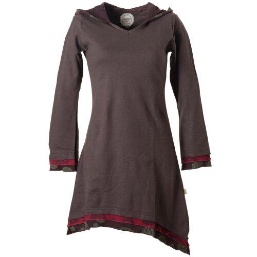 Vishes warmes Kleid Tunika Minikleid Zipfelkapuze Hoody Longshirt