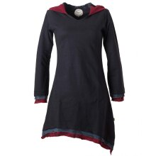 Vishes warmes Kleid Tunika Minikleid Zipfelkapuze Hoody...