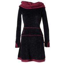Vishes warmes Kleid Tunika Minikleid Samtshirt Hoody...