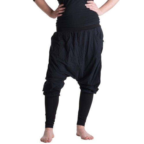 Vishes Haremshose mit Stulpen Gymnastikhose Yogahose Größe 36 bis 40