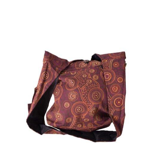 Vishes Umhängetasche Stofftasche Beuteltasche mit Ornamenten bestickt