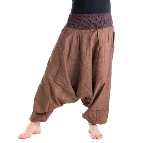 Vishes Haremshose Pluderhose mit einfarbigem Bund 36 bis 44