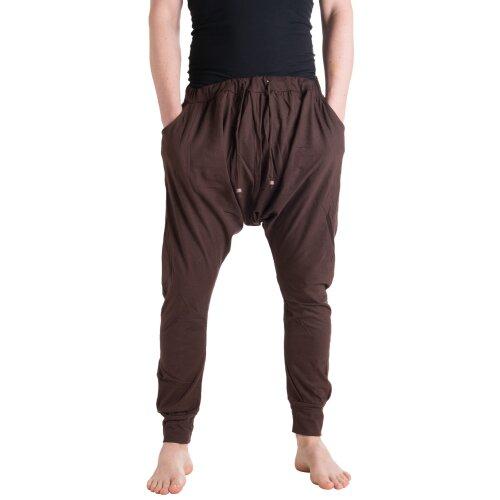 Vishes Haremshose Männerhose Sommer Hose Pluderhose mit tiefen Schritt