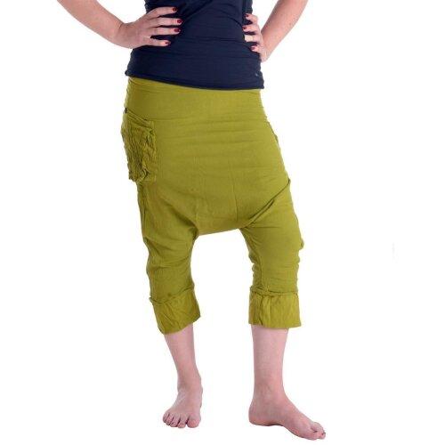 Vishes Lange Baumwoll Sommer Hose Hippie Goa Hose Haremshose