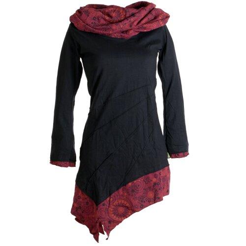 Vishes Kleid warm Tunika Longsleeve mit großem Kragen