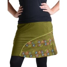 Vishes Mini Rock bestickt Goa Rock Hippie Cacheur olive 36