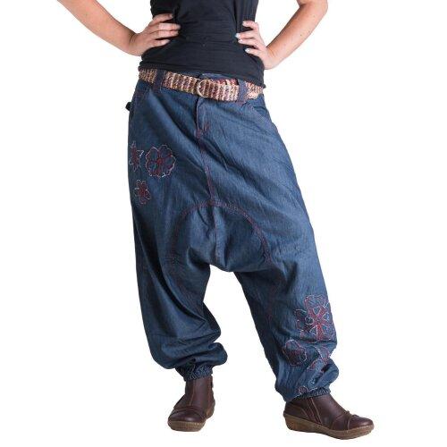 Vishes Blumen Jeans Haremshose