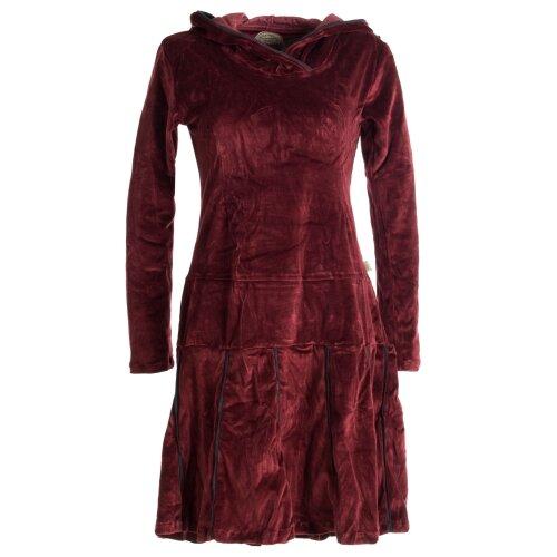 Vishes warmes Kleid Tunika Minikleid Samtshirt Hoody Longshirt