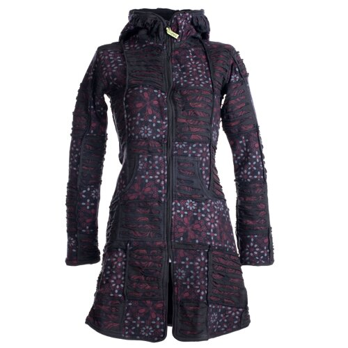 Vishes Mantel Jacke Cutwork Fleece warme Jacke