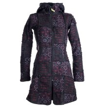 Vishes Mantel Jacke Cutwork Fleece warme Jacke