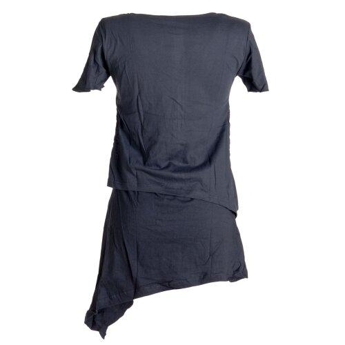 Vishes Kleid Minikleid Lagenlook asymmetrisch