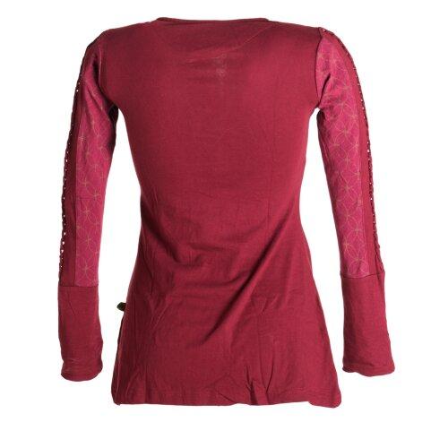 Vishes Sweater mit Bändern aus Baumwolljersey