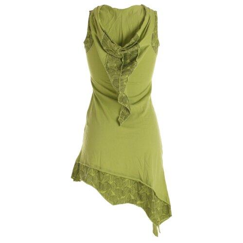 Vishes Asymmetrisches Baumwoll-, Zipfel-, Elfenkleid mit Zipfelkapuze