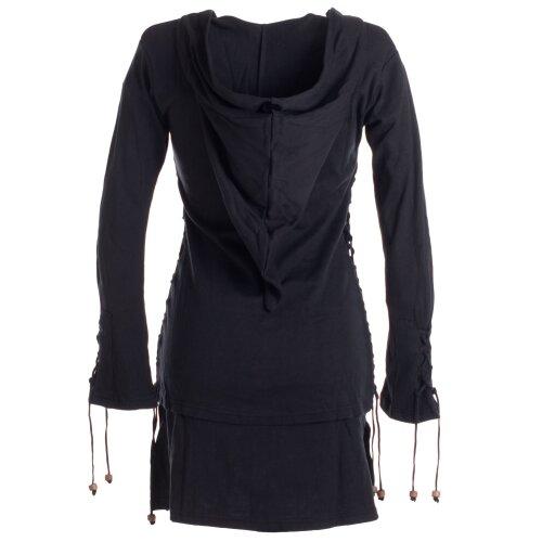 Vishes Kleid lagenlook Kleid mit Zipfelkapuze