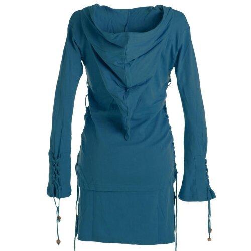 Vishes Kleid lagenlook Kleid mit Zipfelkapuze türkis 42 ...