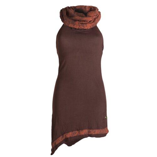 Vishes Neckholder Zipfelkleid mit Kapuzenkragen aus Baumwolle