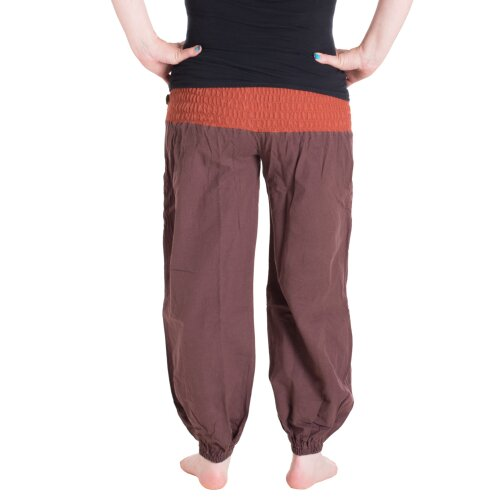 Vishes Baumwoll Haremshose mit Dehnbarem Bund Einheitsgröße 32-42