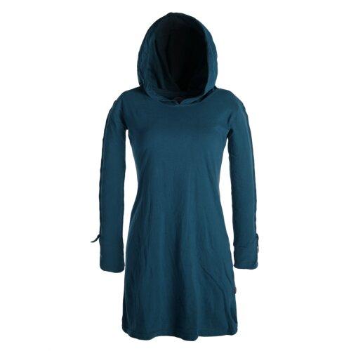Vishes Einfarbiges Langarm Baumwoll Hoodie-Kleid mit ...