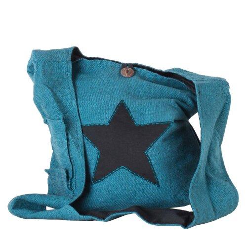 Vishes Yogi Beuteltasche aus Baumwolle mit aufgenähtem Stern