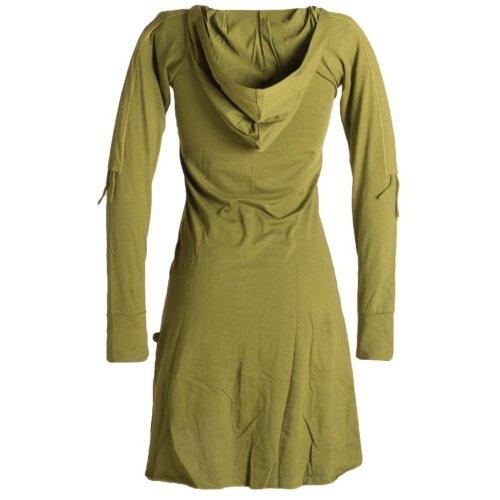 Vishes Longsleeve Tulpenkleid Hoody aus Baumwolle mit langen Ärmeln und Kapuze
