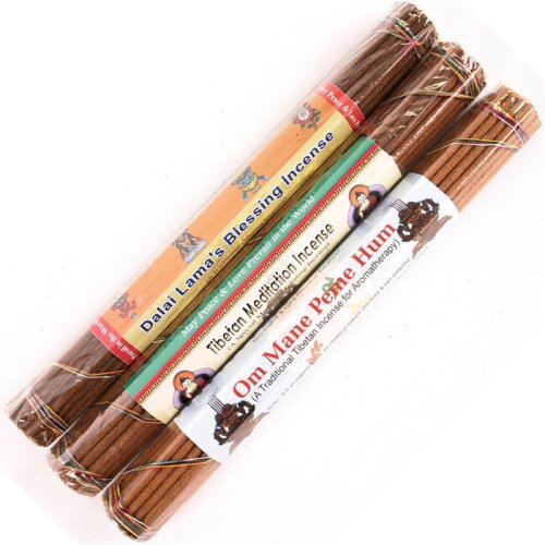37 traditionelle tibetische Räucherstäbchen 22 cm 55 g