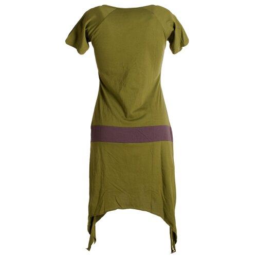 Vishes Einfaches Zipfelkleid mit kurzen Ärmeln aus Biobaumwolle