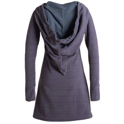 Vishes Langarm Winterkleid aus recyceltem Eco Fleece mit großer Zipfelkapuze