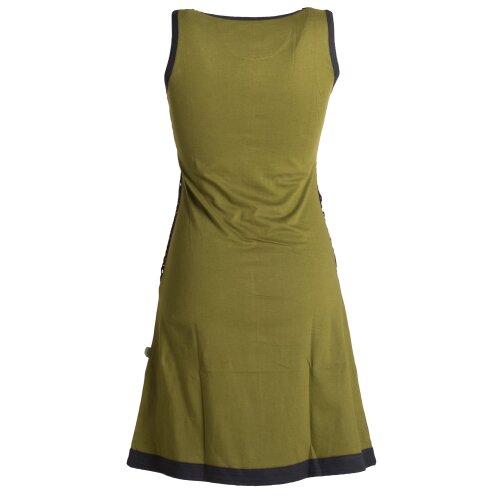 Vishes Ärmelloses Kleid aus Biobaumwolle mit geflochtenen Einsätzen