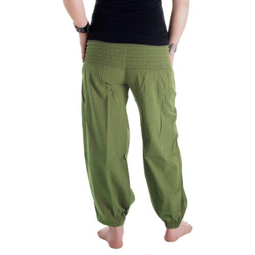 Vishes Pludrige Sommer Damen Chino Haremshose aus Baumwolle