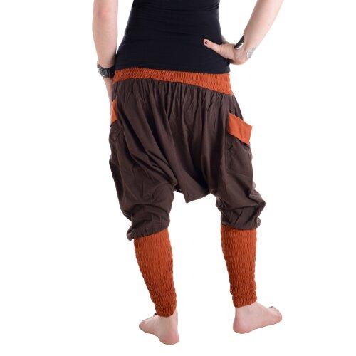 Vishes Unisex Baumwoll Haremshose mit engem, dehnbarem Beinabschluss mit Taschen