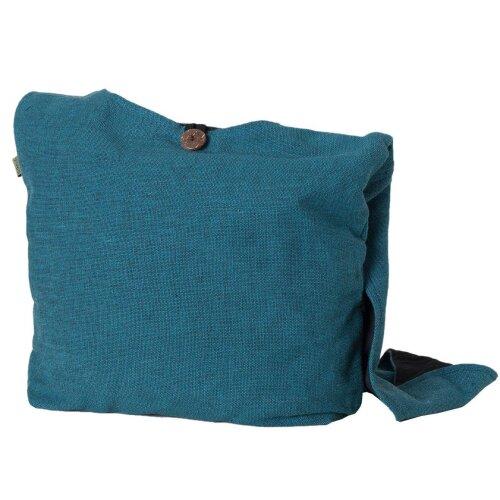 Vishes Einfache Yogi Beuteltasche aus Nepal grob gewebter Baumwolle mit Innentasche