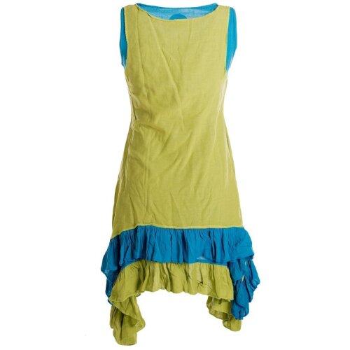 Vishes Armloses Lagenlook Kleid aus Baumwolle mit Rüschen