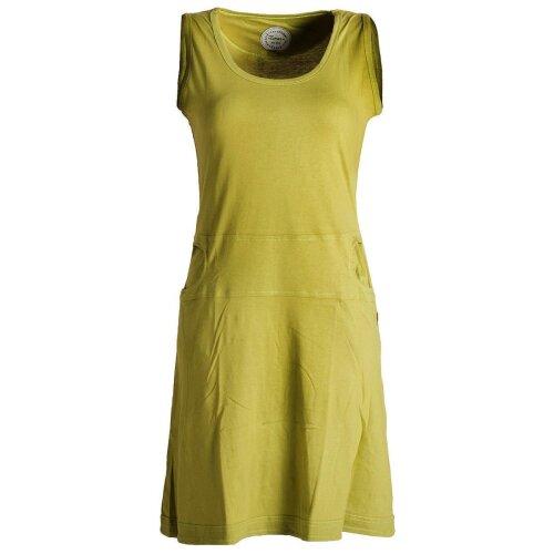 Vishes Einfaches armloses Kleid aus Biobaumwolle mit seitlichen Taschen