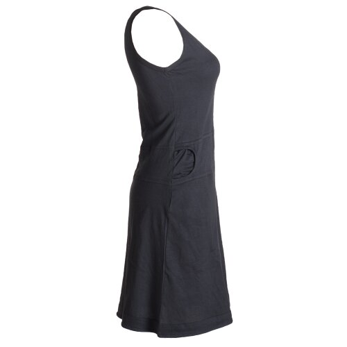 Vishes Einfaches armloses Kleid aus Biobaumwolle mit seitlichen Taschen schwarz 38