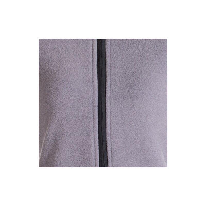 vishes warmer wintermantel aus eco fleece mit zipfelkapuze grau 40 42. Black Bedroom Furniture Sets. Home Design Ideas