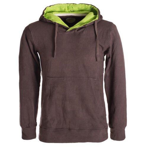 Vishes Herren Sweatshirt aus Baumwollfleece mit Kängurutasche und Kapuze