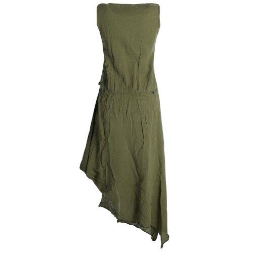 Vishes Ärmelloses lagenlook Kleid aus Baumwolle zum Hochbinden