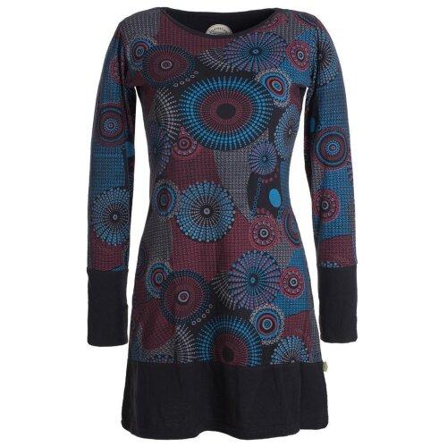 Vishes Langärmliges Lagenlook Kleid mit Mandala Druck