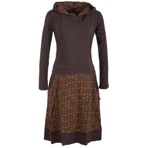 Vishes Gepunktetes Damen Hoodie Kleid mit Zipfelkapuze