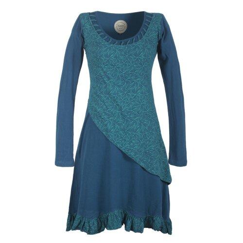 Vishes Langes Asymmetrisches Damen Lagenkleid aus Baumwolle