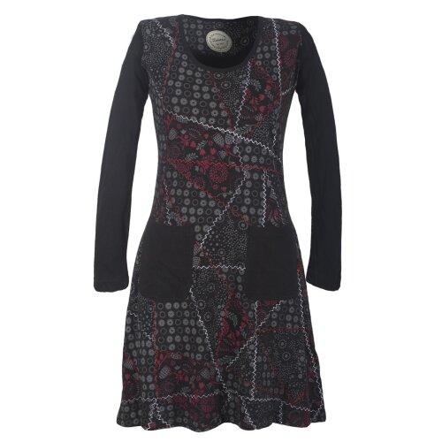 Vishes Baumwollkleid im Patchworkdesign mit aufgenähten Taschen