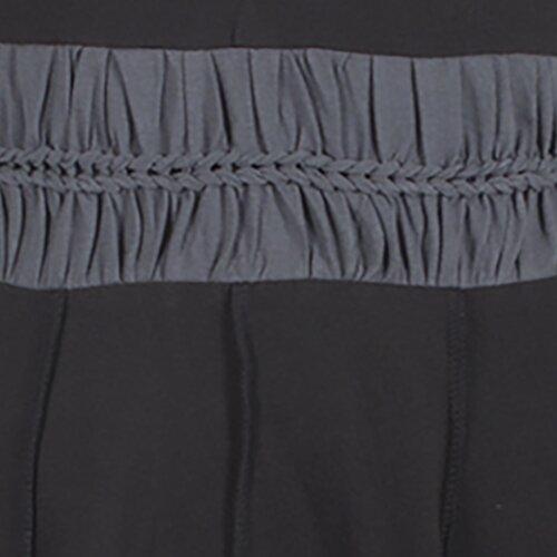 Vishes Zweifarbiges Patchwork Trägerkleid aus Bio-Baumwolle mit Zipfeln schwarz 42