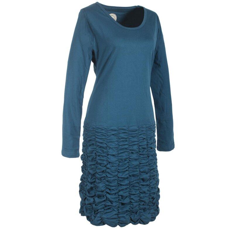 Vishes Langarm Damen Eco Kleid Gerafft Einfarbig ...