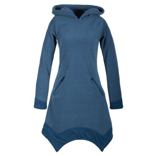 Vishes - Weiches Warmes Hoodie Zipfelkleid mit Zipfelkapuze aus kuscheligem Fleece - mit Taschen