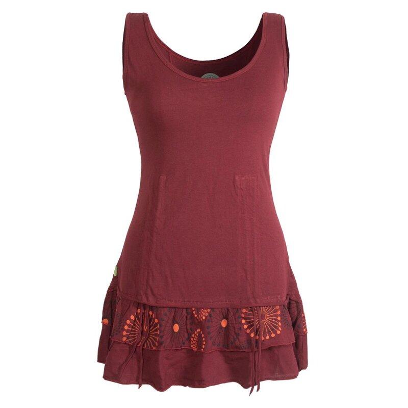 Ultramoderne Vishes - Damen Lagen-Look Jersey-Tunika Shirt aus Baumwolle zum Raffen XZ-21