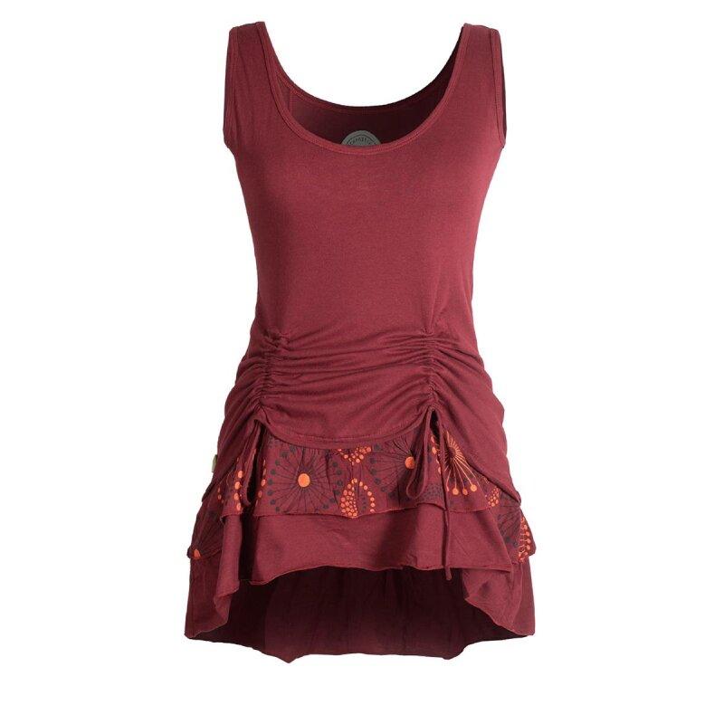 Vellidte Vishes - Damen Lagen-Look Jersey-Tunika Shirt aus Baumwolle zum Raffen DB-02